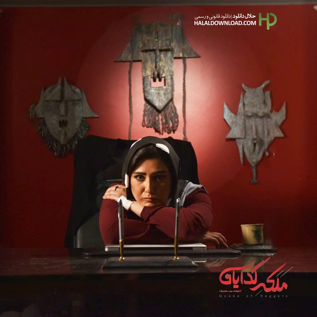 باران کوثری در نمایی از سریال ملکه گدایان